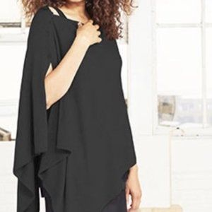 Ruby Ribbon Luxe Shawl XXL in Black